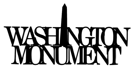 Washington Monument Scrapbooking Laser Cut Title with monument