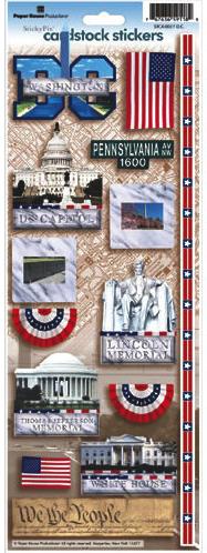 Washington DC Cardstock Scrapbooking Stickers