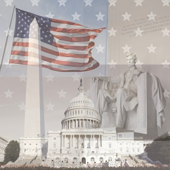 Washington DC Collage 12x12 Scrapbooking Paper