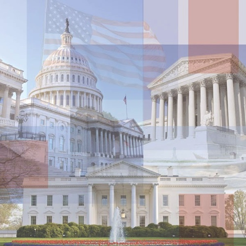 Branches of Government Washington 12x12 Scrapbooking Paper