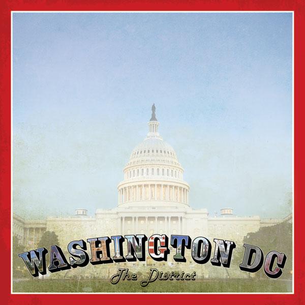 Washington DC Vintage 12x12 Scrapbooking Paper