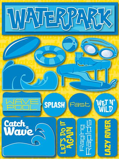 Water Park 3D Scrapbooking Stickers
