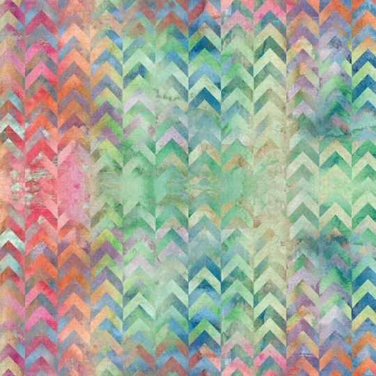 Watercolour Chevrons 12x12 Scrapbooking Paper