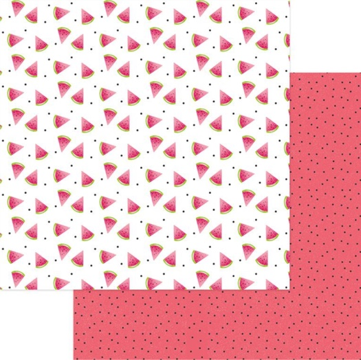 Watermelon 12x12 Double Sided Scrapbooking Paper