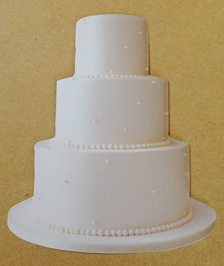 Wedding Cake Scrapbooking Die Cut