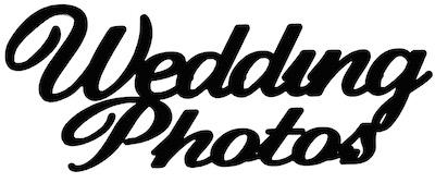 Wedding Photos Scrapbooking Laser Cut Title
