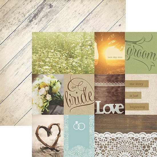 Wedding Day Tags Double Sided 12x12 Scrapbooking Paper