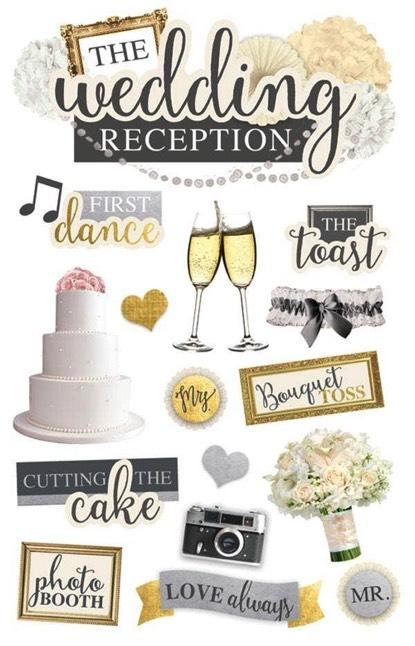 Wedding Reception 3D Scrapbooking Stickers
