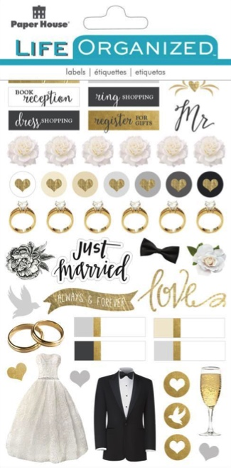 Always and Forever Wedding Scrapbooking Sticker Multi Pack - 4 Sheets