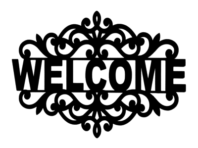 Welcome Scrapbooking Laser Cut Title