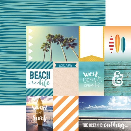 West Coast Tags 12x12 Double Sided Scrapbooking Paper