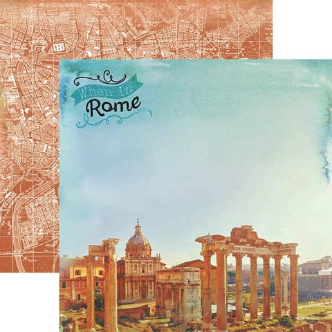 When In Rome 12x12 Double Sided Scrapbooking Cardstock
