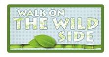 Walk on the Wild Side Glitter Die Cut Scrapbooking Sticker