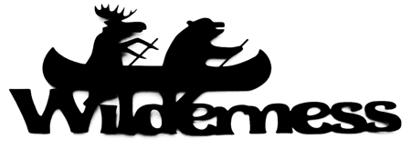 Wilderness Scrapbooking Laser Cut Title with Animals