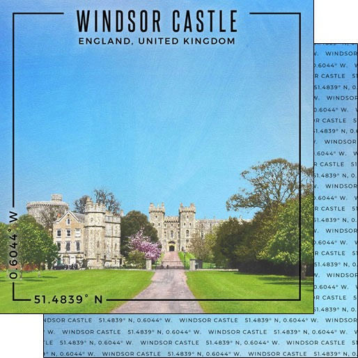 Windsor Castle 12x12 Double Sided Scrapbooking Paper