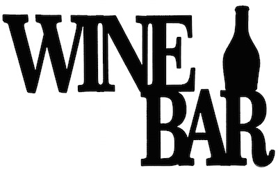 Wine Bar Scrapbooking Laser Cut Title with Bottle