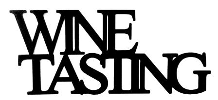 Wine Tasting Scrapbooking Laser Cut Title
