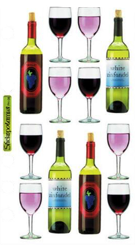 Wine Scrapbooking Stickers