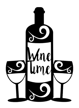 Wine Time Intricate Scrapbooking Laser Cut