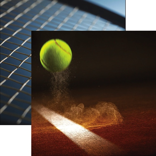 Tennis Winner 12x12 Double Sided Scrapbooking Paper