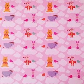 Winnie The Pooh In Clouds 12x12 Scrapbooking Paper