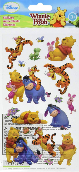 Pooh and Friends Scrapbooking Stickers