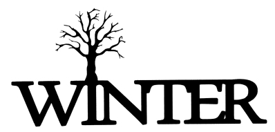 Winter Scrapbooking Laser Cut Title with tree