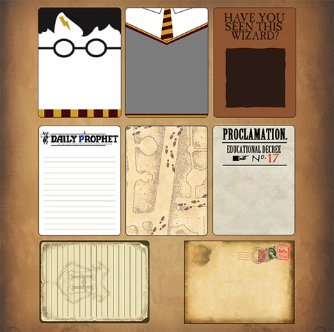 Harry Potter Journaling 12x12 Scrapbooking Paper