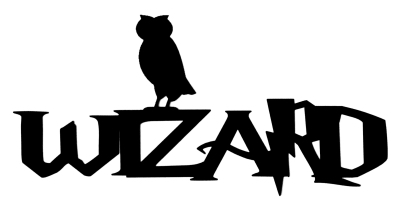 Wizard Scrapbooking Laser Cut Title with owl