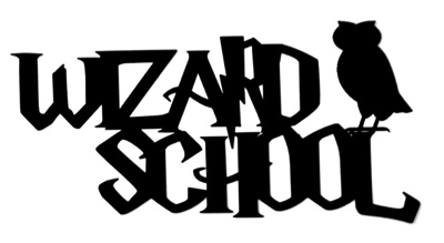 Wizard School Scrapbooking Laser Cut Title with Owl