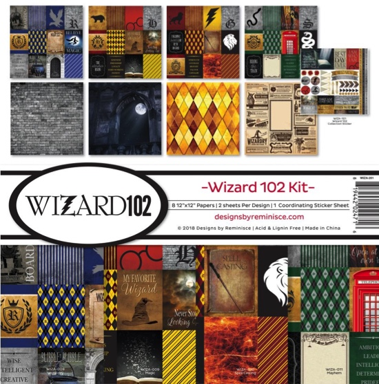 Harry Potter Wizard 102 Scrapbooking Kit