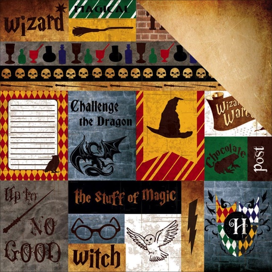 Wizardry Cutouts Double Sided 12x12 Scrapbooking Paper