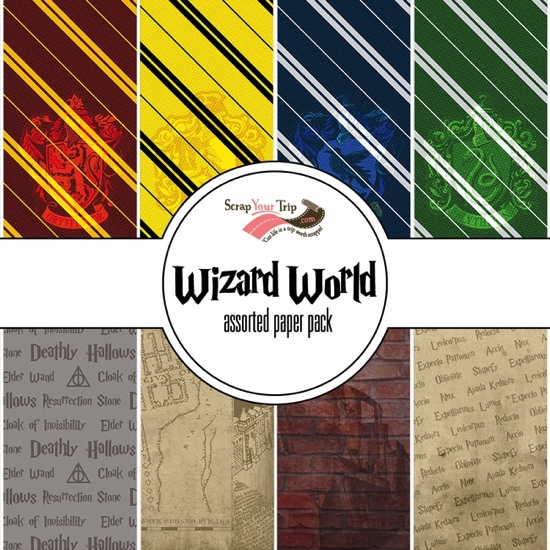 Wizard World Harry Potter Assorted 12x12 Scrapbooking Paper Pack