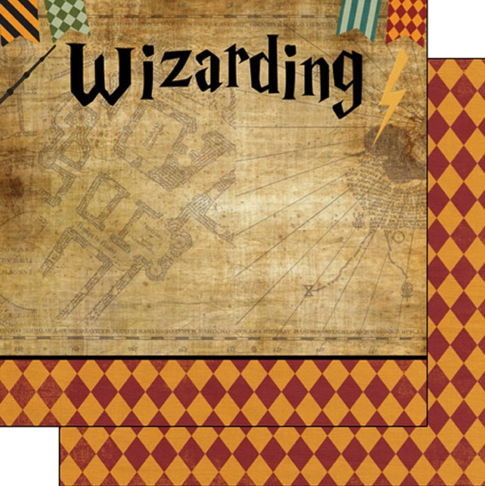 Wizarding World Left 12x12 Double Sided Scrapbooking Paper