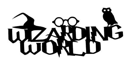 Wizarding World Scrapbooking Laser Cut Title with Icons