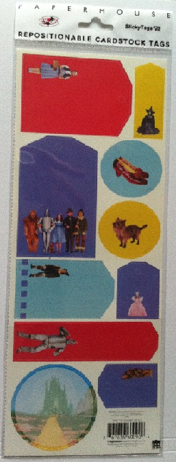 Wizard of Oz Cardstock Scrapbooking Sticker Tags