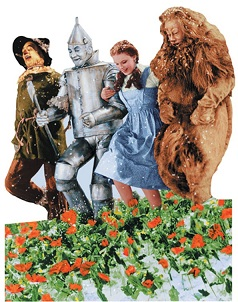 Wizard of Oz Poppyfield Scrapbooking Die Cut