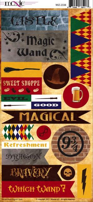 Wizardry Cardstock Scrapbooking Stickers