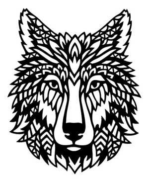 Dog / Wolf Intricate Scrapbooking Laser Cut
