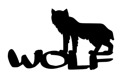 Wolf Scrapbooking Laser Cut Title with Wolf