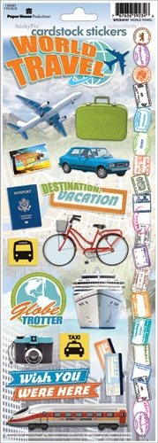 World Travel Cardstock Scrapbooking Stickers