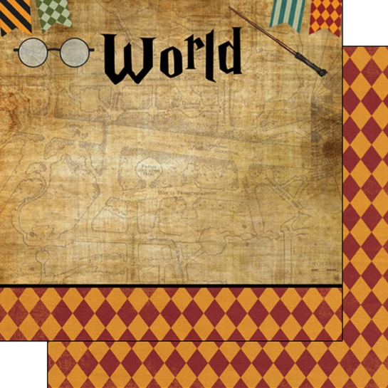 Wizarding World Right 12x12 Double Sided Scrapbooking Paper