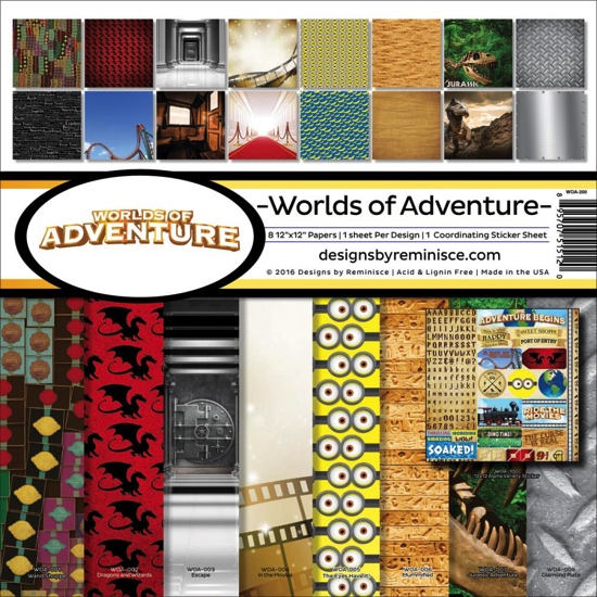 Worlds of Adventure Scrapbooking Kit