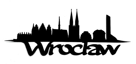 Wroclaw Scrapbooking Laser Cut Title with Skyline