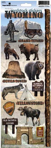 Wyoming Cardstock Scrapbooking Stickers