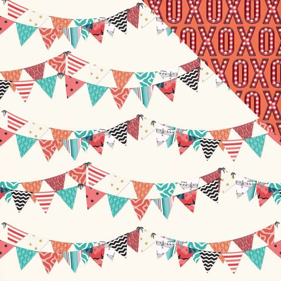 XOXO 12x12 Double Sided Scrapbooking Paper