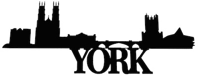 York Scrapbooking Laser Cut Title with Skyline
