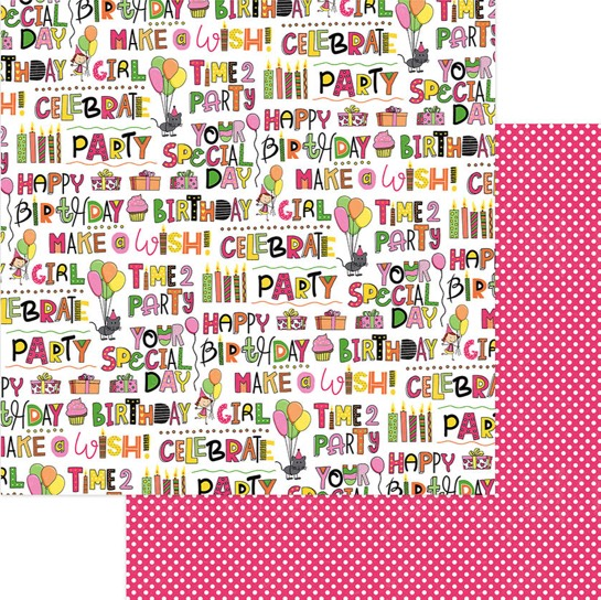 Your Special Day Double Sided 12x12 Scrapbooking Paper