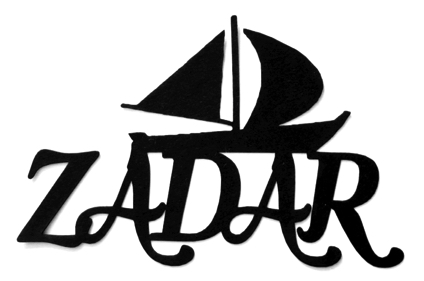 Zadar Scrapbooking Laser Cut Title with Boat