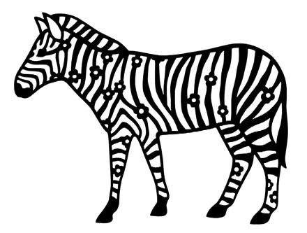 Zebra Intricate Scrapbooking Laser Cut